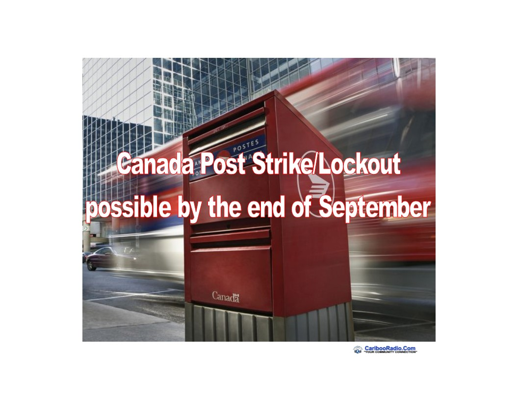 Canada Post Strike/Lockout possible by the end of September