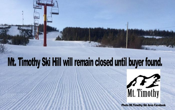 Mt. Timothy not expected to open for the season.