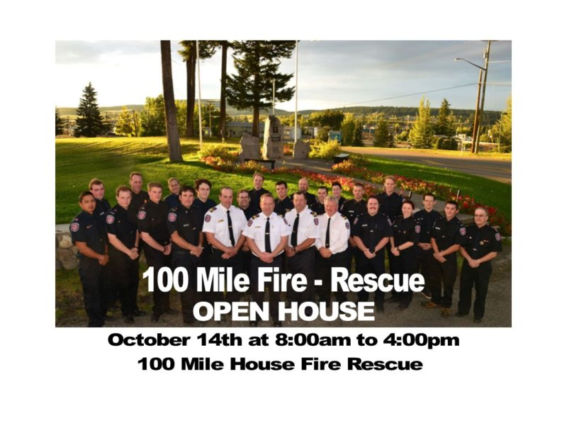 100 Mile Fire – Rescue hosting an open house October 14th