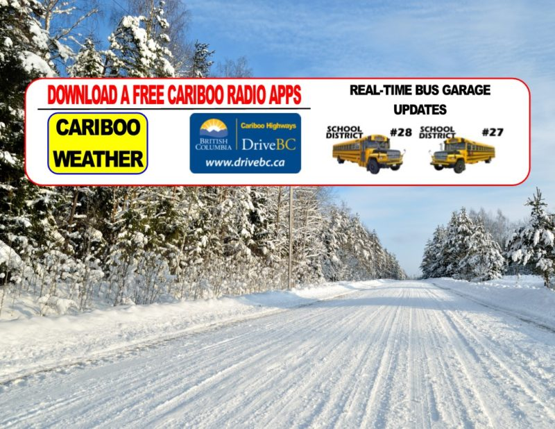 Download a free Cariboo Radio App and take us with you on the road.