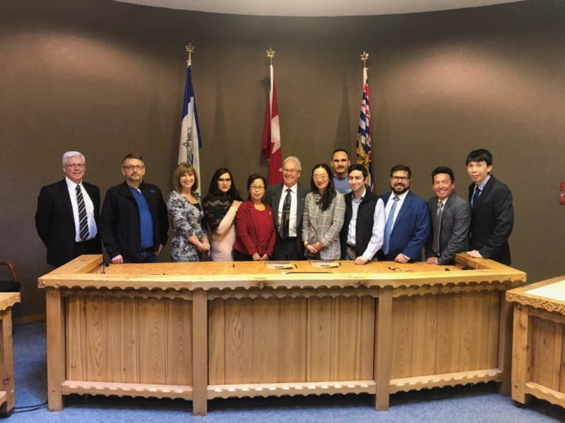 The City of Williams Lake and the Canada Asia Economic and Culture Association signed a three-year memorandum of understanding at City Hall.