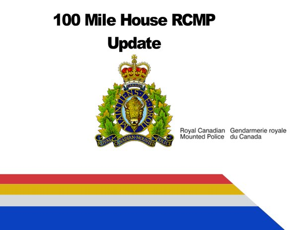 100 Mile RCMP responded to 71 complaints and calls for service between November 27th - December 3rd 2018