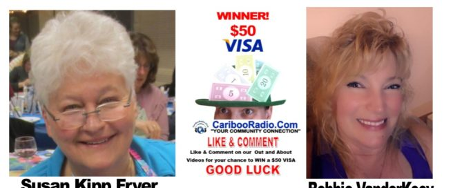 It pays to share the CaribooRadio.Com out and about with Bev Fry videos