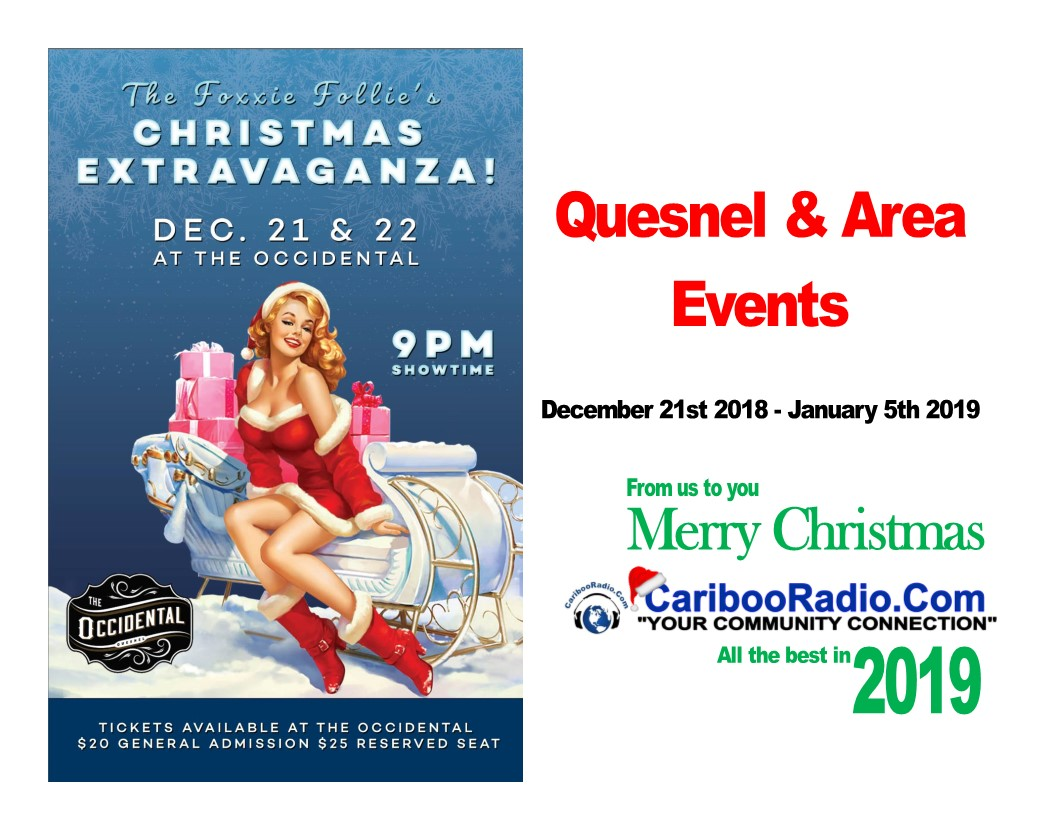 8427d05f7f1a Quesnel and surrounding area events December 21st 2018 – January 6th 2019