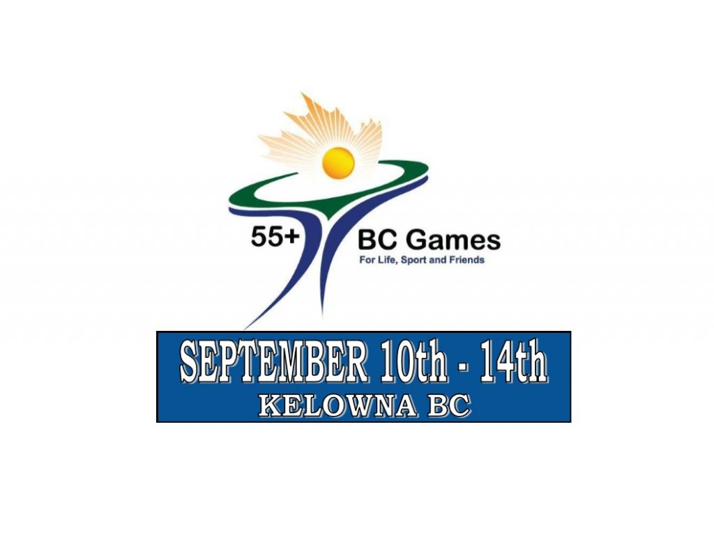 55 Plus BC Games will be hosted in Kelowna BC