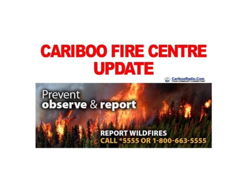Category 2 open fires will be prohibited throughout the Cariboo Fire, effective at noon on Friday, May 10 2019