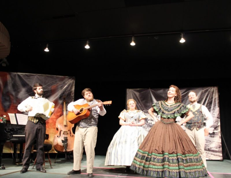 Barkerville Theatre Royal Phoenix Tour on fire at the Martin Exeter Hall