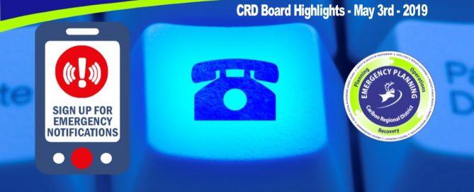 CRD Board Highlights - May 3, 2019